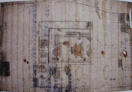 中世大覚寺敷地絵図、正和4年(1315)